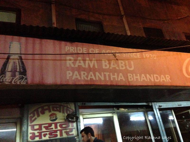 Rambabu paratha in Agra