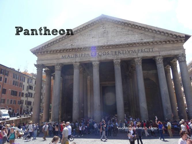 rome diaries pantheon trevi fountain