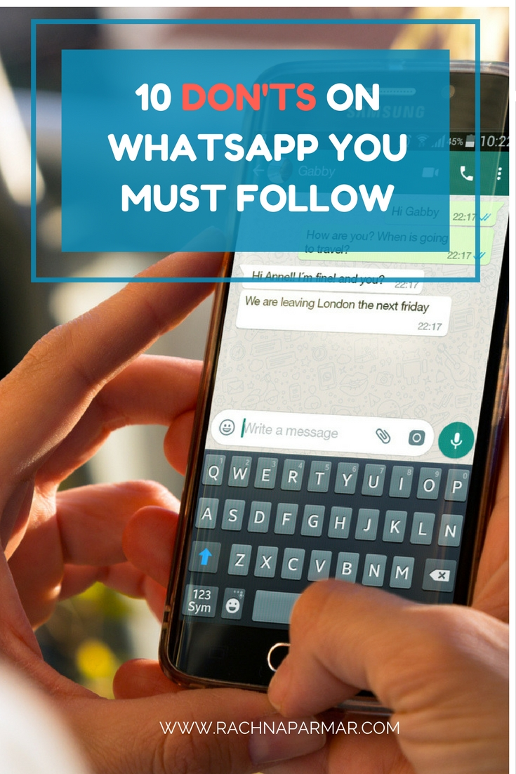 donts on whatsapp